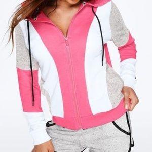 PINK Perfect Full Zip Lightweight Hoodie S NWOT
